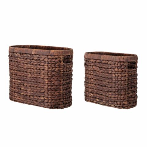 Saria Basket, Brown, Water Hyacinth