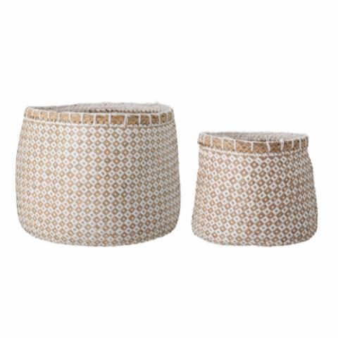 Lindi Basket, White, Seagrass