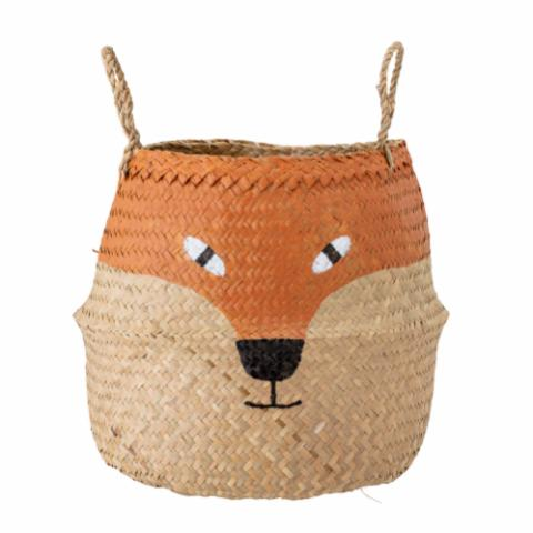 Fritse Basket, Orange, Seagrass