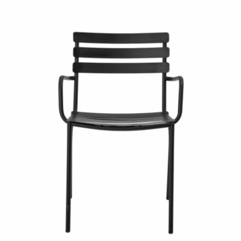 Monsi Dining Chair, Black, Galvanized iron
