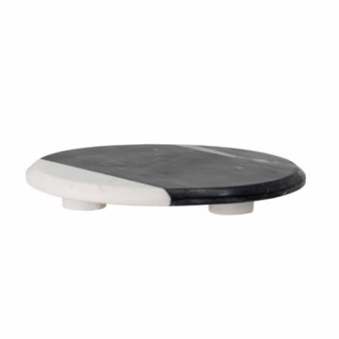 Jai Serving Tray, Black, Marble