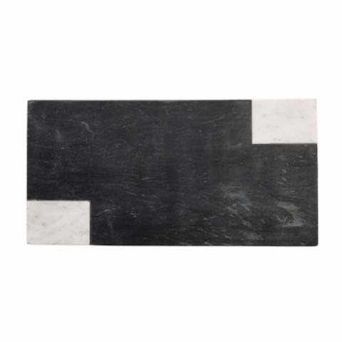 Elvia Cutting Board, Black, Marble