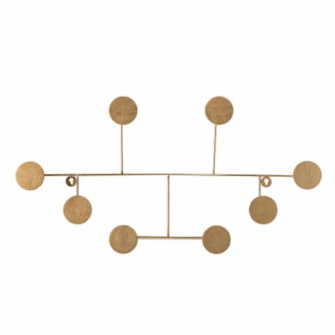 Fia Coat Rack, Brass, Metal