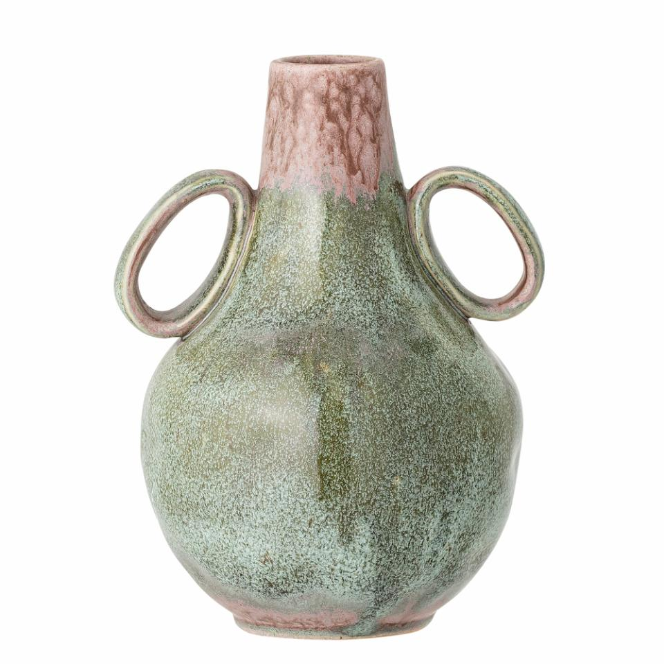 Ibbi Vase, Green, Stoneware