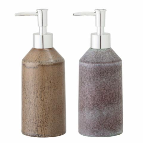 Nevi Soap Dispenser, Brown, Stoneware