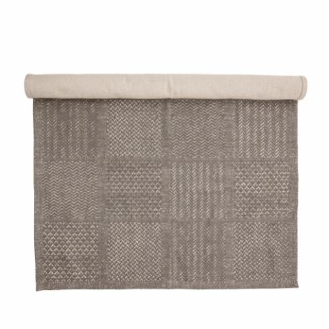 Emrah Rug, Grey, Cotton
