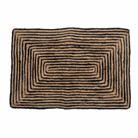 Bill Doormat, Black, Jute