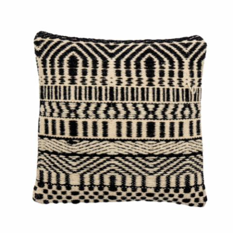 Bix Cushion, Black, Wool