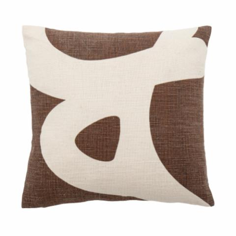 Ebrar Cushion, Brown, Cotton