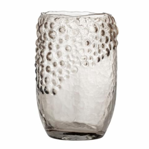 Emalia Vase, Brown, Glass