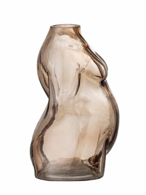 Evie Vase, Brown, Glass