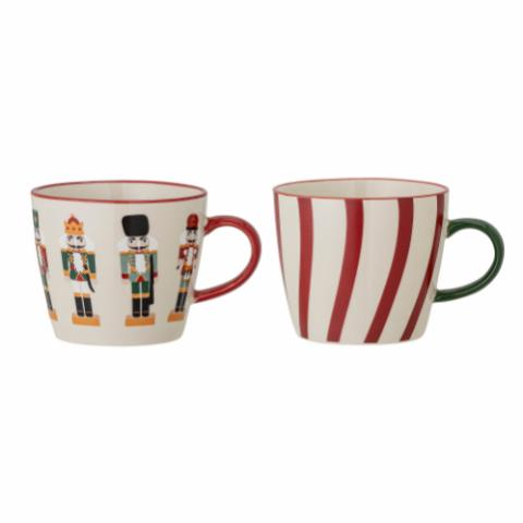 Jolly Mug, Red, Stoneware