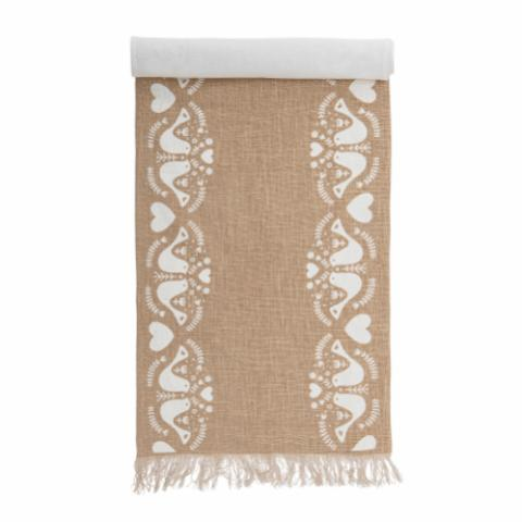 Paule Table Runner, Nature, Cotton