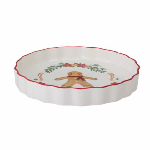 Jolly Pie Dish, Red, Stoneware