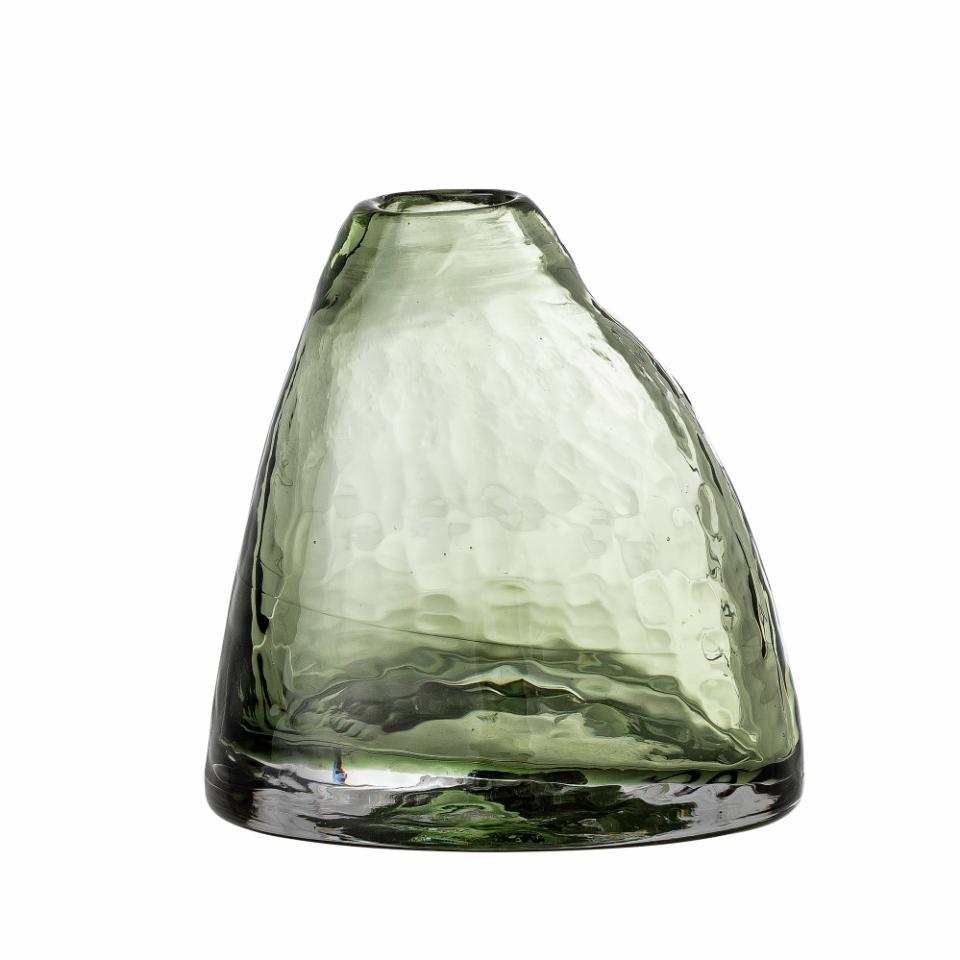 ini Vase, Green, Glass