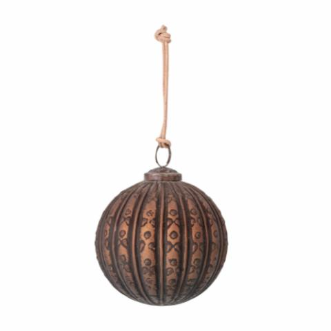 Mung Ornament, Brown, Glass