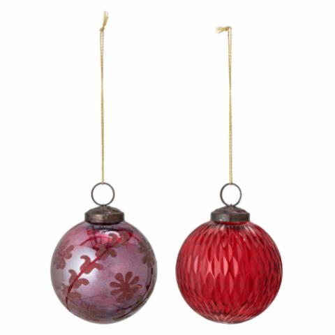 Ki Ornament, Red, Glass