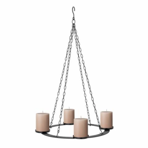 Jutta Advendt Candle Holder, Black, Metal