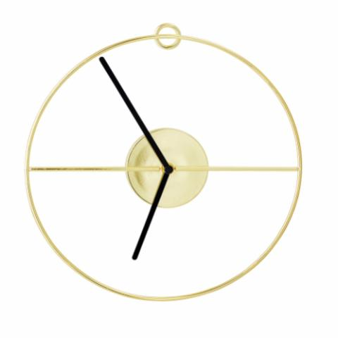 Selin Wall Clock, Gold, Metal