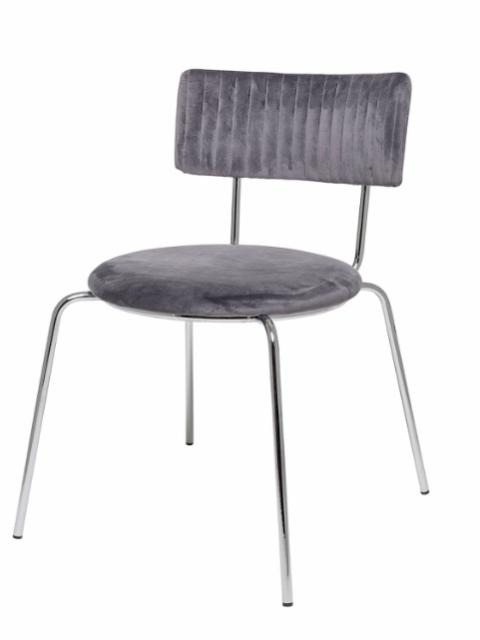 Wave Dining Chair, Grey, Polyester