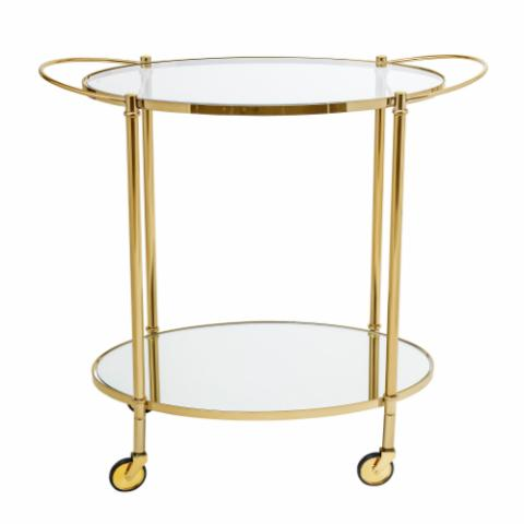 Fine Bar Table, Gold, Glass