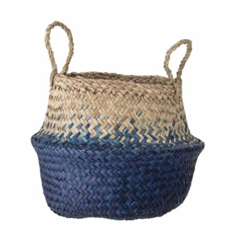 Kiafillippa Basket, Blue, Seagrass