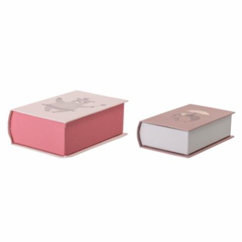Mehti Storage Box w/Lid, Rose,Cardboard
